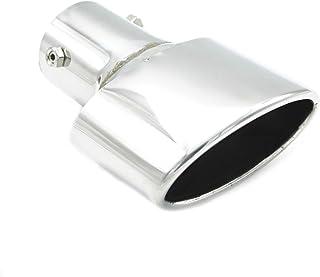 Duokon Di/ámetro de 60 mm Fibra de carbono Estilo Coche de acero inoxidable Modificado Salida /única Tubo de escape Punta de silenciador Garganta de cola 63-114 mm para la mayor/ía de los autos