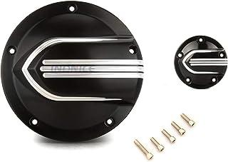 Couvercle corne de moto harnais corne de moto CNC noire profonde pour 1991-2017 Harley FLT Touring/…