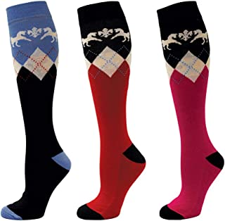 Equine Couture Hadley Knee Hi Socks - 3 Pack