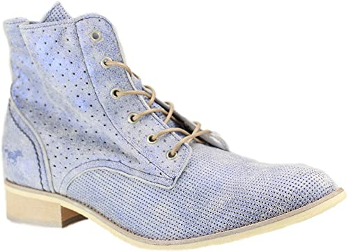 Mustang Femme Lacets de Raton laveur Chaussures en bleu métallique Différentes tailles