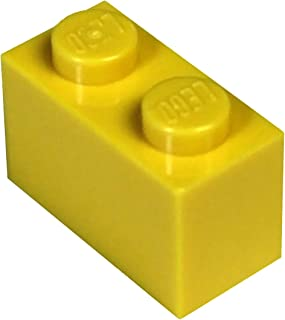 LEGO Parts and Pieces: Yellow (Bright Yellow) 1x2 Brick x50