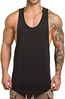 Men's Muscle Gym Workout Stringer Tank Tops Bodybuilding Fitness T-Shirts T01
