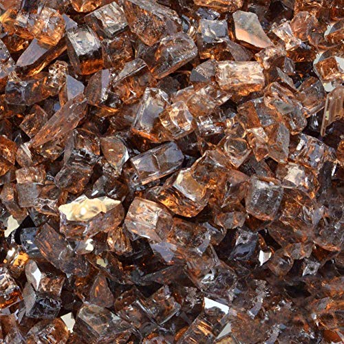 Stanbroil 10-Pound 1/2 inch Fire Glass for Fireplace Fire Pit, Copper...