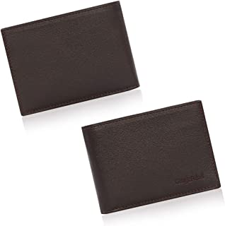 Cengiz Pakel Genuine Leather Minimalist wallets for men Slim Cool Mens Credit Card Wallet with Large Capacity and ID Windows
