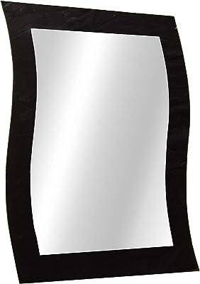 Sima Enterprise Wave Designed Attractive Mirror (20 * 16, Black & White)
