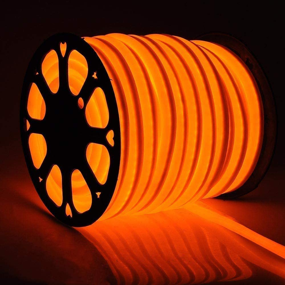 US Stock 50FT Cheap mail order specialty store Orange Flexible LED Neon Light Lighting Max 46% OFF Strip Rope
