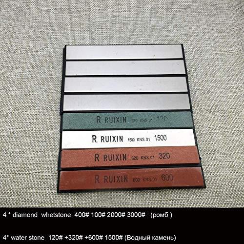 No logo 3000# grit Edge Pro Spitze Messerschärfer Messer Diamantschleifstein Ruixin pro KME Schärfer System ersetzen Wetzstein (Farbe: Lila) (Color : Black)