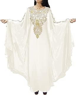 African Boutique Dubai Kaftan for Women Beads Work Maxi Dress Gown Formal Chiffon African Wear