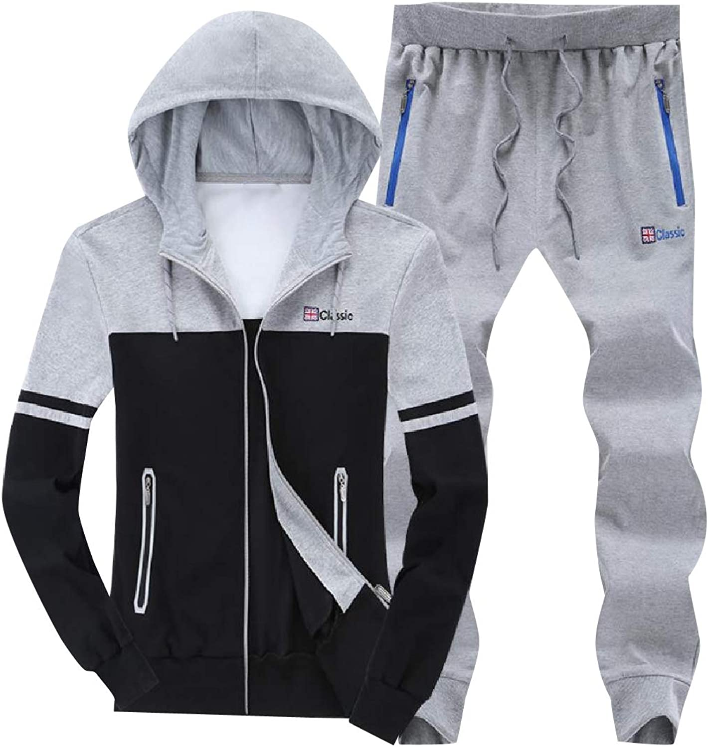 Tryist Mens RelaxedFit Fleece Lined Big Tall Tracksuit Set