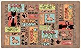 Drymate Cool Cat Bowl Place Mat, Brown, Medium/12' x...