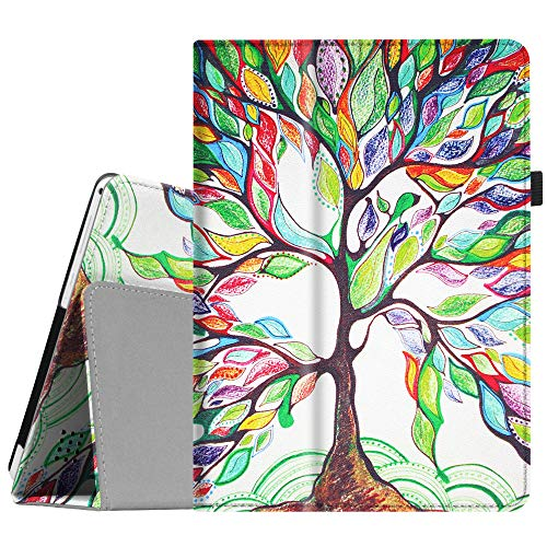 Fintie Case for Dragon Touch 10 inch K10 / Notepad K10 / Max10 Tablet, Premium PU Leather Stand Cover Compatible Lectrus 10.1, Victbing 10, Hoozo 10, Winsing 10, ZONKO 10.1 Android Tablet, Love Tree