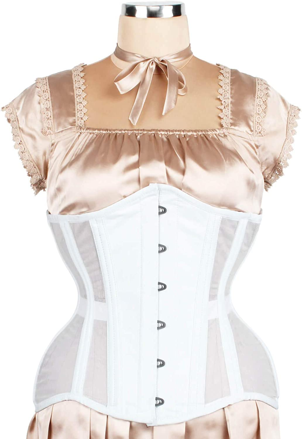 Elyzza London Steel Boned Mesh with Cotton Waist Training Corset