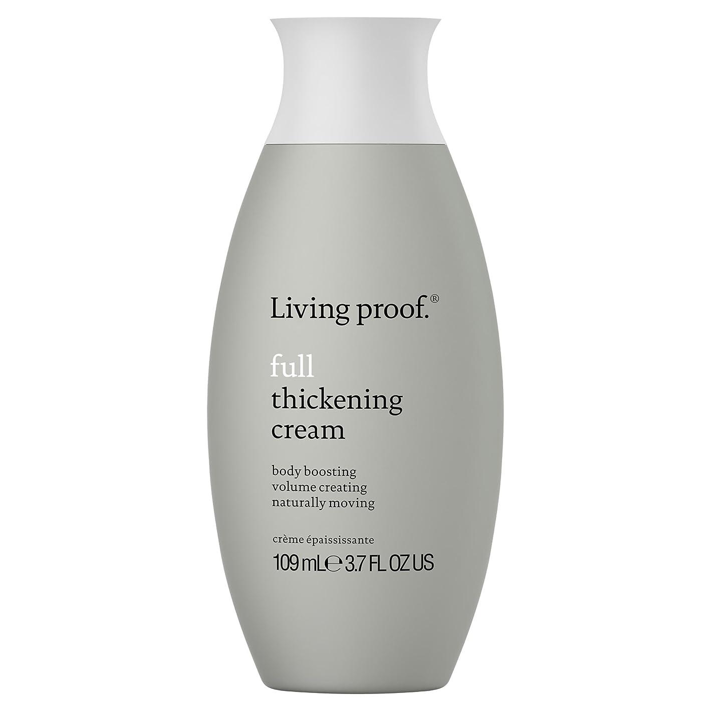 司令官衝突コース批評生きている証拠フル肥厚クリーム109ミリリットル (Living Proof) (x6) - Living Proof Full Thickening Cream 109ml (Pack of 6) [並行輸入品]