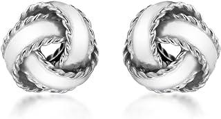 Tuscany Silver 8mm纯银打结耳钉