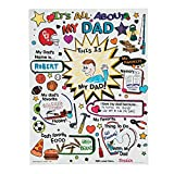 Color Your Own All About Dad Poster - Crafts for Kids and Fun Home Activities