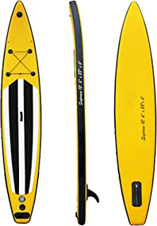 """Youth & Adult Inflatable Stand Up Paddle Board 12.6'*28""""*6"""" SUP Non-Slip Deck, Bottom Fin for Paddling and Surf Control, L..."""