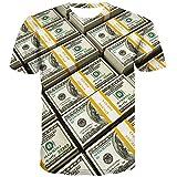 KYKU Cash Money Shirt for Men Records 3D Printed Graphics 100 Dollar Bill T Shirts (2XL, Dollar Shirt)