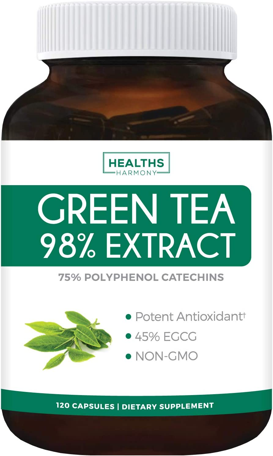Green Tea Memphis Mall 98% Extract with Bargain EGCG Capsules 120 - Non-GMO for Wei