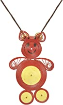 Womens Trendz Micky Mouse Paper Quilled Necklace Set
