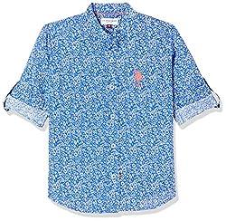 USPA Boys Plain Regular Fit Shirt