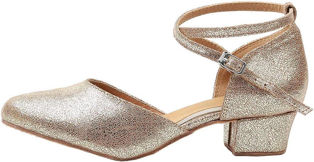 AOQUNFS Women's Ballroom Dance Shoes Closed Toe Dance Heels for Latin Salsa Practice Performence Dance Pumps,Model YCL219/243