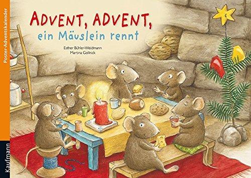 Advent, Advent, ein Mäuslein rennt: Poster-Adventskalender (Adventskalender mit Geschichten für Kinder / Ein Buch zum Vorlesen und Basteln)