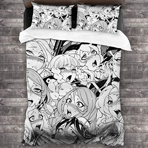Best Bargain NOT Ahegao Collection 3 Piece Bedding Set,1 Quilt Cover 70 X 86,2 Pillowcase 20 X 35...