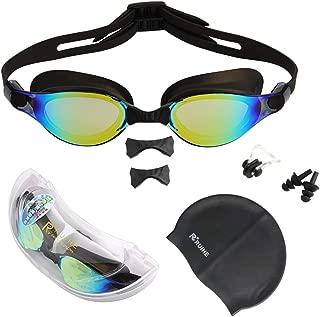 RUIHE Flat Lens Swim Goggles,Anti Fog No Leaking Swimming...