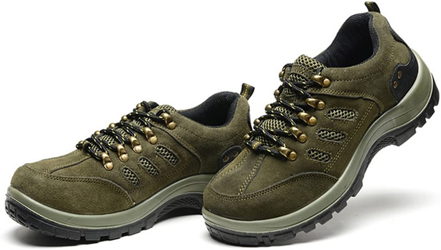 Rongzhan Climbing Safety shoes PU Green Smash-Proof Penetration-Resistant