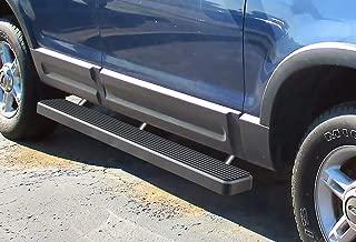 APS iBoard Running Boards 5 inches Matte Black Custom Fit 2002-2005 Ford Explorer Sport Utility 4-Door (Include Diesel Models with DEF Tanks) (Nerf Bars Side Steps Side Bars)