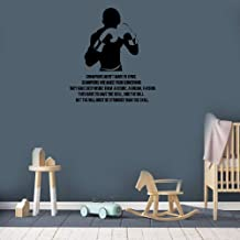 Jueray Quotes Vinyl Wall Art Decals Saying Words Removable Lettering Champions aren't Made in Gyms Champions are Made from Something They Have Deep Inside Them A Desire A Dream A Vision Gym Boys Room