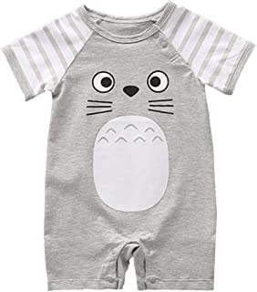 stylesilove Adorable Unisex Baby Boy and Girl Short Sleeve Cotton Romper