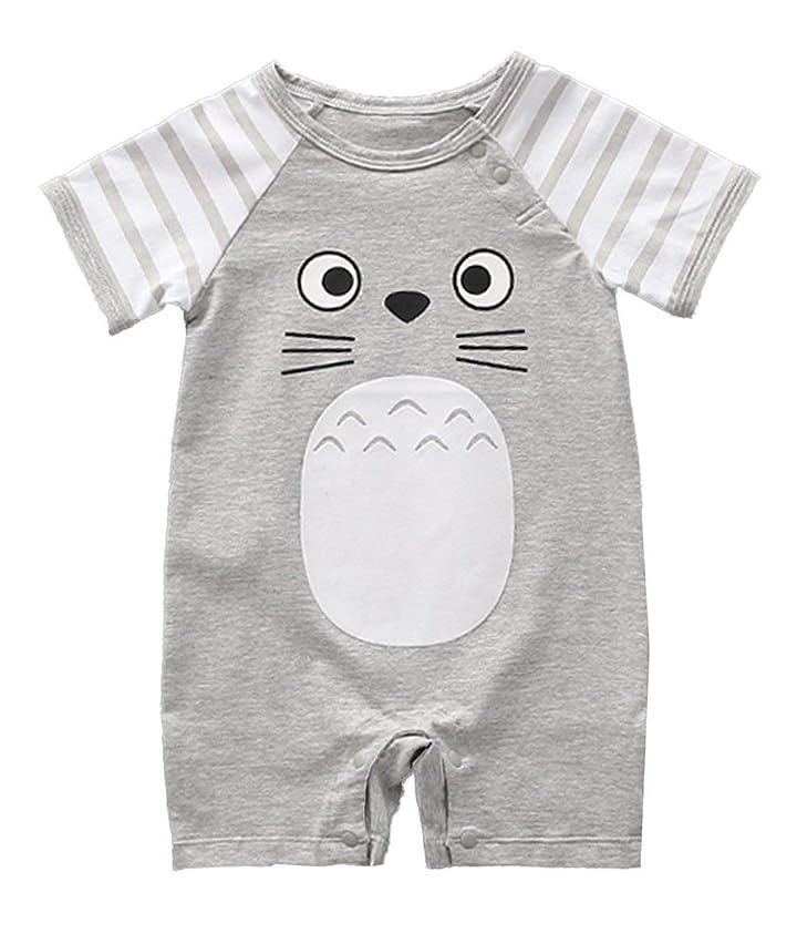 stylesilove Adorable Unisex Baby Totoro Short Sleeve Cotton Romper