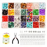 Jewelry Making Kits 8 Sorts Crystal 16 Sorts Beads 6 Sorts Sliver DIY Gift Adult Repair Tool with Wires Pliers 315inch for Women Beginners, Earrings Necklace Bangles Bracelet Anklets Making Supplies