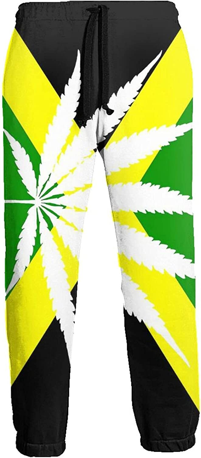 Active Sweats Jogger Pants Jamaica Flag Weed Leaves Running Joggers Casual Sweatpants for Men Women