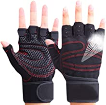 CESHMD Sporthandschoenen, halve vingers, ademend, gewichtheffen, fitnesshandschoenen, halter, mannen, vrouwen, gym, handsc...
