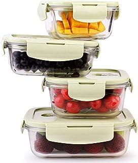 LINGLING Boîte À Lunch En Verre/Ensembles De Containers/aliments Rangement Et Organisation Conteneurs Airtight/Lunch Conte...