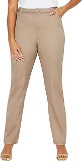 Women's Plus Size Petite Sateen Stretch Pant