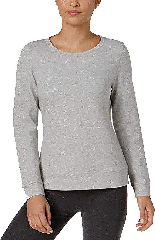 32 Degrees Women Soft Fleece Crewneck Quilted Sleeve