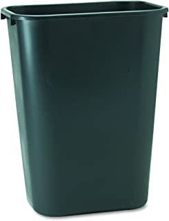 Rubbermaid Commercial Products Fg295700Bla Plastic Resin Deskside Wastebasket, 10 Gallon/41 Quart, Black