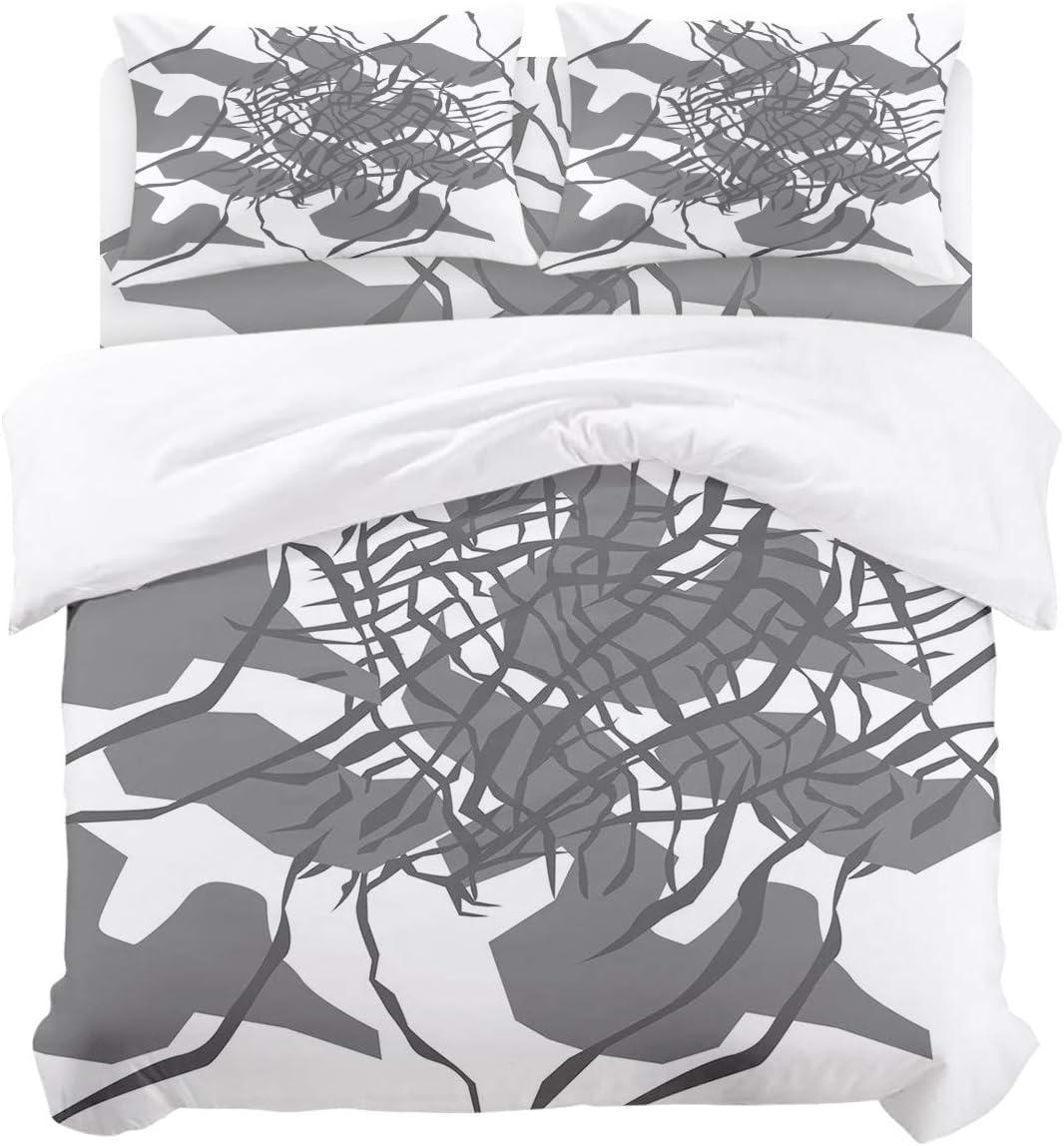 Nashville-Davidson Mall Brawvy Regular store Bedding Duvet Cover Set 4 Grey in Comforter Flower Pieces