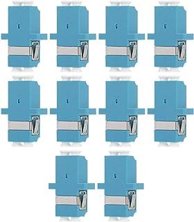 TEHAUX 10 stks Glasvezel Koppeling LC naar LC Duplex Multimode Glasvezel Kabel Adapter Koppeling Keystone Koppeling voor W...