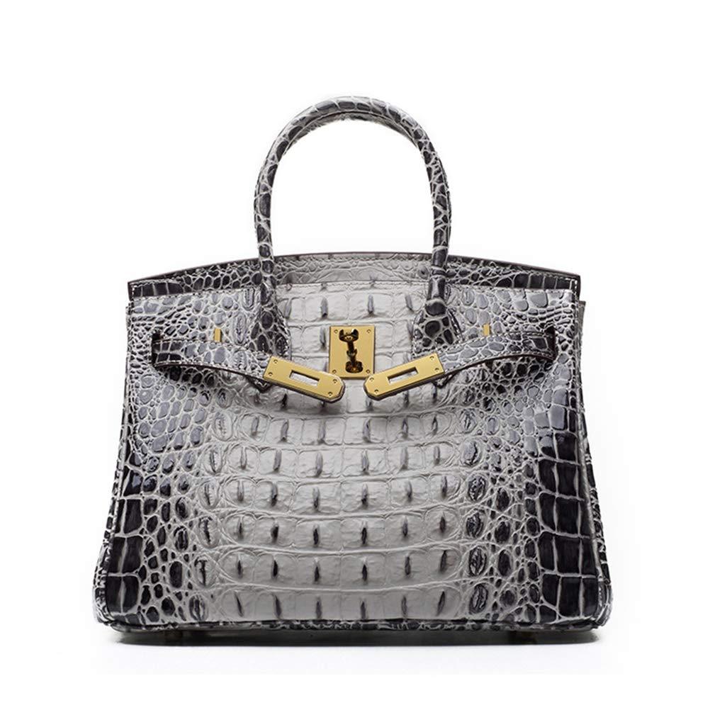Details about  /New Crocodile Grain Women/'s Genuine Cow Leather Messenger Shoulder Bag Handbag