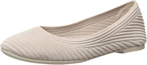 Skechers Women's Casey-Engineered Textured Knit Skimmer Ballet Flat