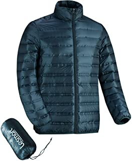 Lesmart Men's Ultralight Down Jacket Packable Lightweight Quilted Puffer Down Fill