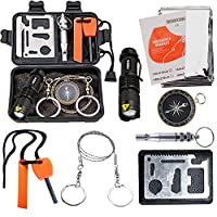 EMDMAK Survival Kit Outdoor Emergency Gear Kit for Camping Hiking Travelling or Adventures