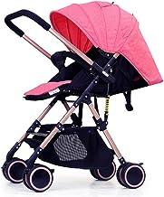 Silla de paseo bidireccional - portátil ultraligera plegable Puede sentarse y tumbarse Carro infantil de bebé, toldo totalmente ajustable con pantalla solar que bloquea la radiación ultravioleta