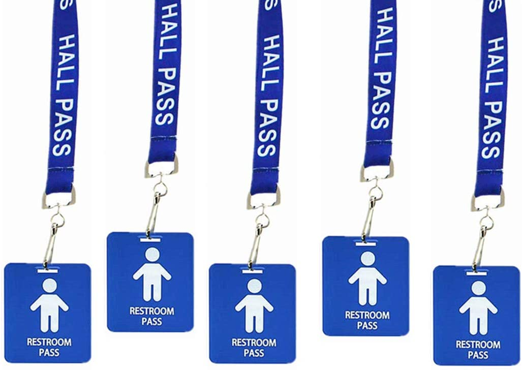 Hall Pass Lanyards Outlet SALE with Card Classroo Passes Unbreakable Max 60% OFF School