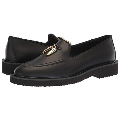 1689d555be6dd Giuseppe Zanotti Fred Loafer (Black/Gold) Men's Slip on Shoes