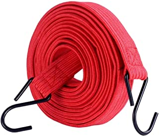 24station H 2 Pcs Elastic Luggage Ropes Bike Bungee Cords Bicycle Rack Straps